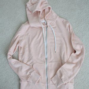 Forever 21 Light Pink Zip Up Hoodie (NEW!) SMALL